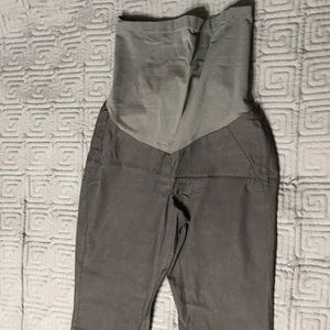 A Pea in the Pod gray maternity slacks XS